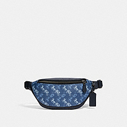 COACH 376 - WARREN MINI BELT BAG WITH HORSE AND CARRIAGE PRINT QB/INDIGO MULTI