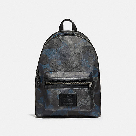 COACH 37841 ACADEMY BACKPACK IN SIGNATURE WILD BEAST PRINT CHARCOAL/BLACK ANTIQUE NICKEL