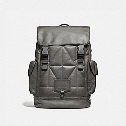 COACH 37847 Rivington Backpack With Quilting HEATHER GREY/BLACK COPPER FINISH