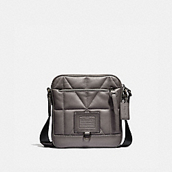COACH 37967 - RIVINGTON CROSSBODY WITH QUILTING HEATHER GREY/BLACK COPPER FINISH