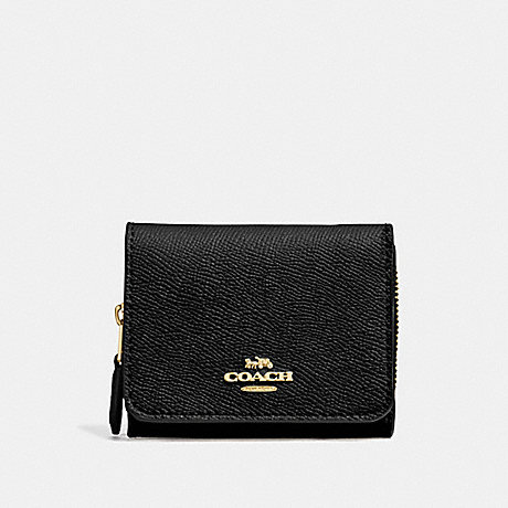 COACH 37968 SMALL TRIFOLD WALLET IM/BLACK