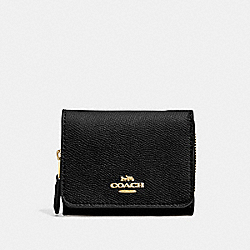 COACH 37968 - SMALL TRIFOLD WALLET IM/BLACK