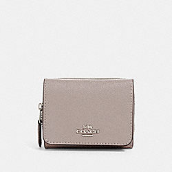 COACH 37968 Small Trifold Wallet SV/GREY BIRCH