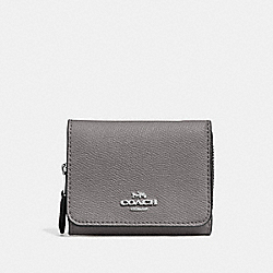 COACH 37968 Small Trifold Wallet SV/HEATHER GREY