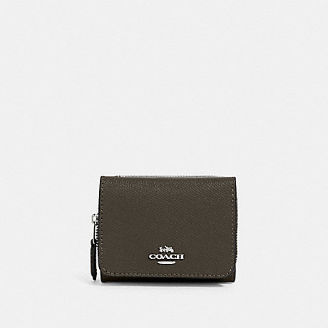COACH SMALL TRIFOLD WALLET - SV/CARGO GREEN - 37968