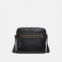 COACH 37982 Dylan 27 With Rivets BLACK/BLACK COPPER FINISH