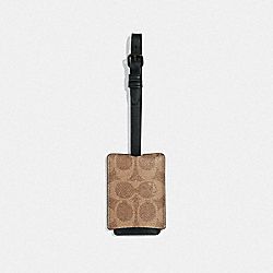 COACH 38067 - LUGGAGE TAG IN SIGNATURE CANVAS KHAKI