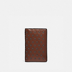 COACH 38139 - CARD WALLET WITH RIVETS SADDLE