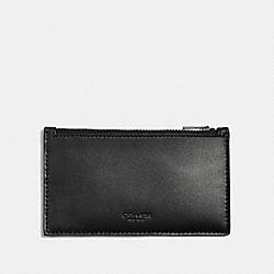 COACH 38144 Zip Card Case BLACK
