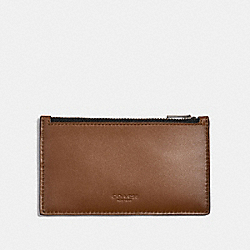 ZIP CARD CASE - 38144 - SADDLE