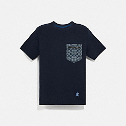 SIGNATURE ESSENTIAL T-SHIRT - 3824 - NAVY/CHAMBRAY