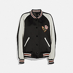 COACH 38351 Reversible Varsity Jacket BLACK