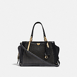 COACH 38541 - DREAMER WITH QUILTING AND RIVETS GD/BLACK