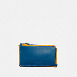 COACH 3856 L-zip Card Case PACIFIC/POLLEN