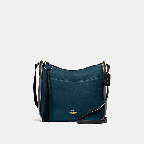 COACH 38696 CHAISE CROSSBODY IN COLORBLOCK GD/PEACOCK MULTI