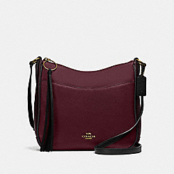 COACH 38696 Chaise Crossbody In Colorblock GD/VINTAGE MAUVE MULTI