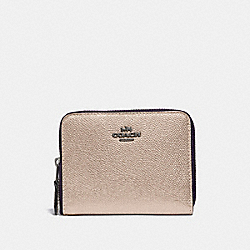 COACH 38872 - SMALL ZIP AROUND WALLET GM/PLATINUM