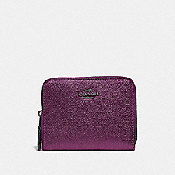 COACH 38872 Small Zip Around Wallet GM/METALLIC BERRY