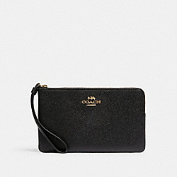 COACH 3888 - LARGE CORNER ZIP WRISTLET IM/BLACK
