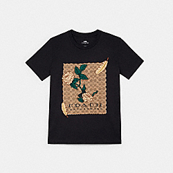 EMBROIDERED SIGNATURE T-SHIRT - 38929 - DARK SHADOW
