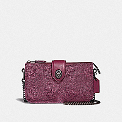 COACH 38934 - TURNLOCK CROSSBODY IN COLORBLOCK METALLIC BERRY MULTI/GUNMETAL