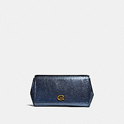 COACH 38964 - ALEXA TURNLOCK CLUTCH METALLIC GRAPHITE/PEWTER