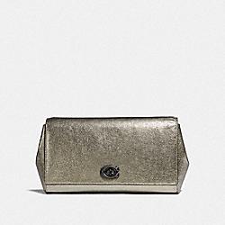 COACH 38964 - ALEXA TURNLOCK CLUTCH PLATINUM/PEWTER