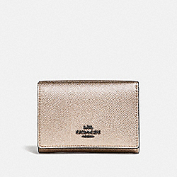 SMALL FLAP WALLET - GM/PLATINUM - COACH 38983