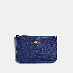 ZIP CARD CASE - 39243 - GD/METALLIC BLUE