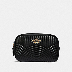 COACH 39685 Belt Bag With Deco Quilting BLACK/BRASS