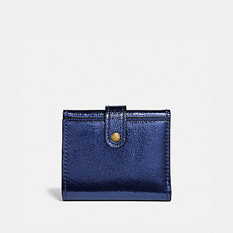 COACH SMALL TRIFOLD WALLET - METALLIC BLUE/BRASS - 39707