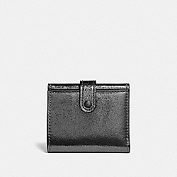 COACH 39707 - SMALL TRIFOLD WALLET METALLIC GRAPHITE/PEWTER
