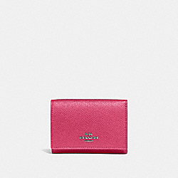 COACH 39737 - SMALL FLAP WALLET GM/DARK PINK