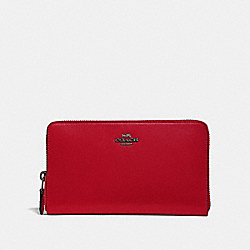 COACH 39738 - CONTINENTAL WALLET GUNMETAL/RED APPLE