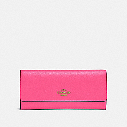 COACH 39745 Soft Trifold Wallet B4/CONFETTI PINK