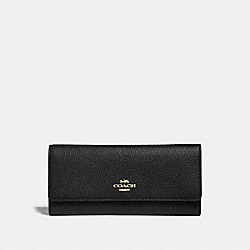 SOFT TRIFOLD WALLET - GD/BLACK - COACH 39745