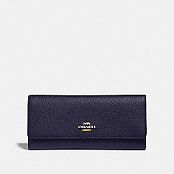 COACH 39745 Soft Trifold Wallet GD/CADET