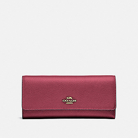 COACH 39745 SOFT TRIFOLD WALLET GOLD/DUSTY PINK