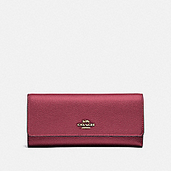 COACH 39745 - SOFT TRIFOLD WALLET GOLD/DUSTY PINK