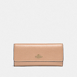 COACH 39745 - SOFT TRIFOLD WALLET GD/BEECHWOOD