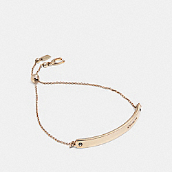 BAR SLIDER BRACELET - GOLD - COACH 39773