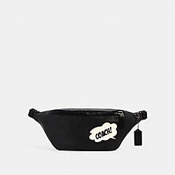 COACH │ MARVEL WARREN BELT BAG WITH COACH BUBBLE - 3990 - QB/BLACK