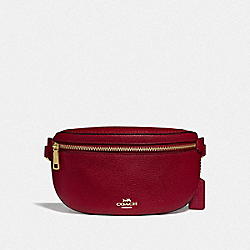 COACH 39939 - BELT BAG GD/DEEP RED