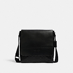 COACH 4006 - HOUSTON MAP BAG IN SIGNATURE LEATHER QB/BLACK
