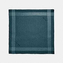 COACH 40082 - METALLIC WINDOWPANE CHALLIS PEACOCK