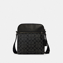 COACH 4010 - HOUSTON FLIGHT BAG IN SIGNATURE CANVAS QB/CHARCOAL/BLACK