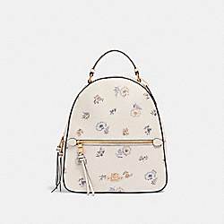 JORDYN BACKPACK WITH DANDELION FLORAL PRINT - 4106 - IM/CHALK/ BLUE MULTI