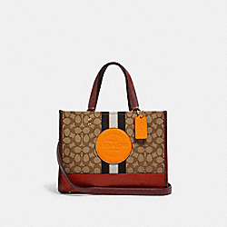 DEMPSEY CARRYALL IN SIGNATURE JACQUARD WITH STRIPE AND COACH PATCH - 4113 - IM/KHAKI SUNBEAM MULTI