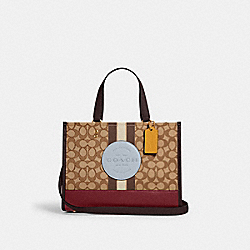COACH 4113 - DEMPSEY CARRYALL IN SIGNATURE JACQUARD WITH STRIPE AND COACH PATCH IM/KHAKI/MIST MULTI