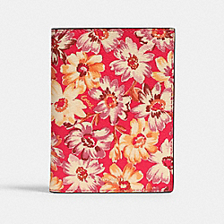 COACH 4115 Passport Case With Vintage Daisy Script Print IM/PINK MULTI